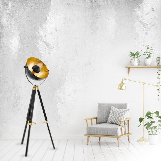 Лампион INDUSTRIAL COVALEDA E27 max 60W IP20 черно + златно