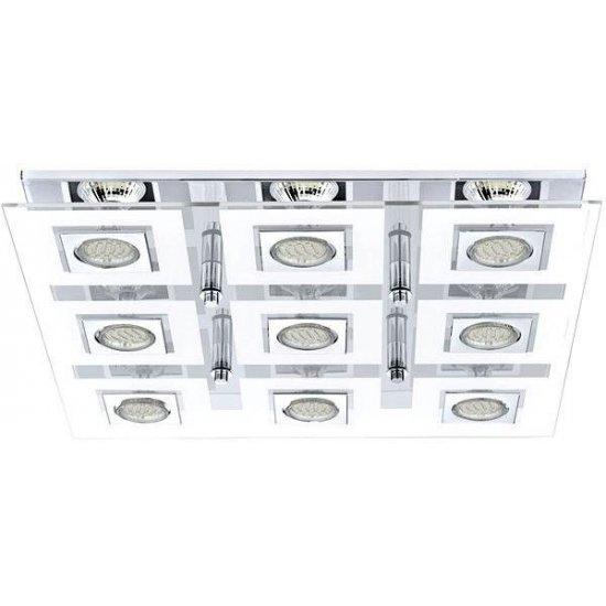 LED плафониера CABO 9хGU10 9x3W 3000K 9x240Lm IP20 хром