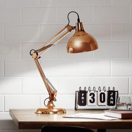 Настолна лампа BORGILLIO E27 max 40W IP20 медена