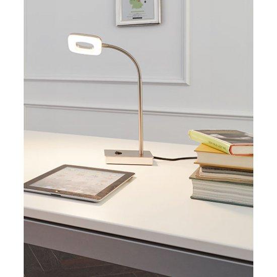 LED настолна лампа LITAGO 4W 3000K 350Lm IP20 мат хром + бяло