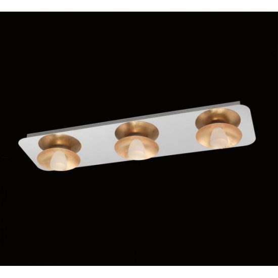 LED плафон TORANO 3х5.4W 3000K 3х510Lm IP20 хром + злато димируем