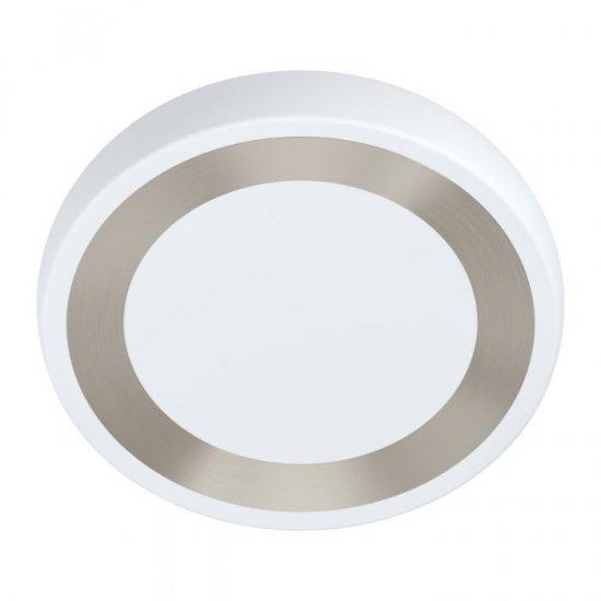 LED плафон RUIDERA 22W 3000K 2400Lm IP20 бяло + сребристо