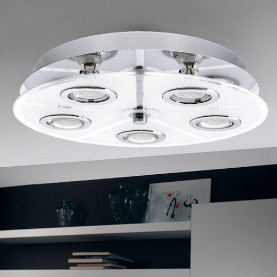LED плафониера CABO 5хGU10 5x3W 3000K 5x240Lm IP20 хром