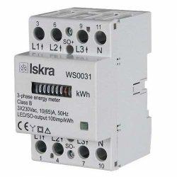 Трифазен директен механичен електромер ISKRA-MIS WS 0031 65А за DIN шина