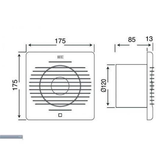 Вентилатор Horoz 15W Ø120мм 120m³ / h