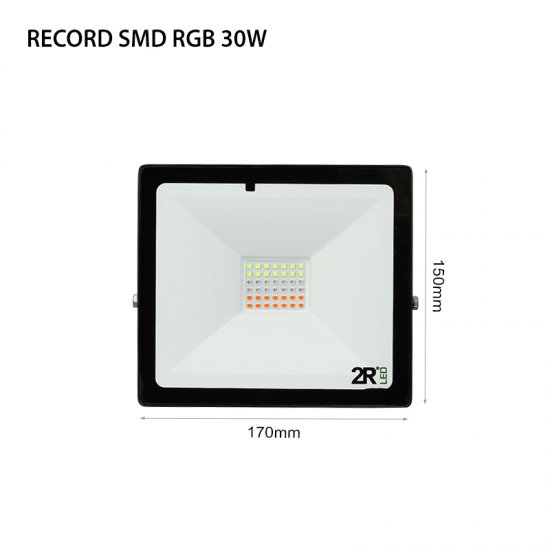 LED Прожектор Record 30W RGB IP65 черен
