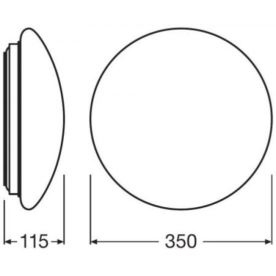 LED плафон LEDVANCE SF 350 18W 3000K 1440Lm IP44 ф35см