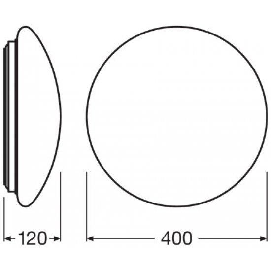 LED плафон с микровълнов сензор LEDVANCE SF 400 24W 3000K 1920Lm IP44 ф40см