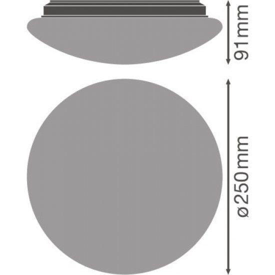 LED плафон с микровълнов сензор LEDVANCE SF 250 13W 3000K 920Lm IP44 ф25см