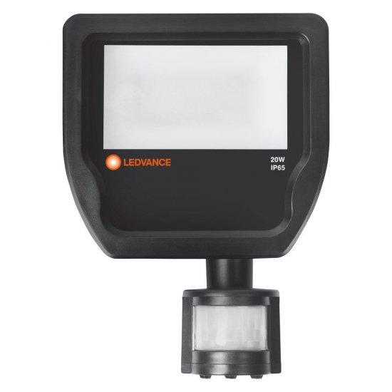 LED прожектор със сензор LEDVANCE GEN 3 20W 4000K 2400Lm IP65 черен 120Lm/W