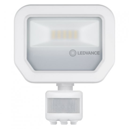 LED прожектор със сензор LEDVANCE GEN 3 10W 3000K 1100Lm IP65 бял 110Lm/W