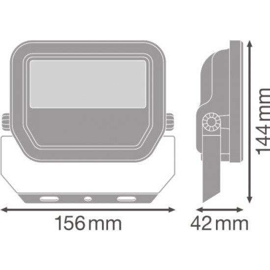 LED прожектор LEDVANCE GEN 3 20W 4000K 2400Lm IP65 бял 120Lm/W