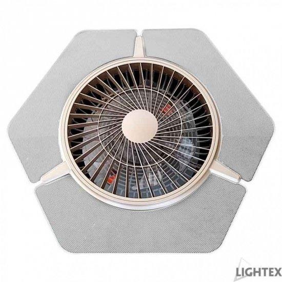 LED плафон вентилатор 36W  3-white 3240Lm ф66см IP20 с дистанционно управление