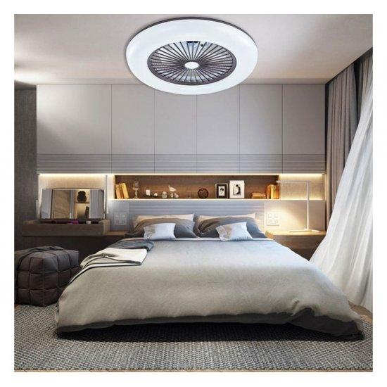 LED плафон вентилатор 67W+33W 3-white с APP + Bluetooth ф60см бял