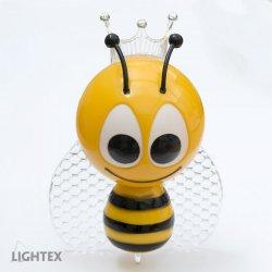 LED нощна лампа за контакт BEE 0.4W RGB 10Lm със сензор 220V