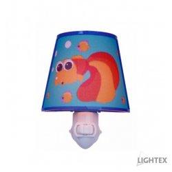 Нощна лампа за контакт MARE E14 max 7W синя