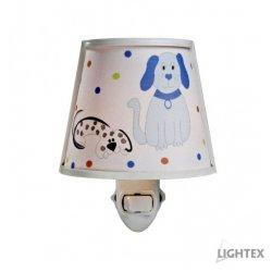 Нощна лампа за контакт DOG E14 max 7W синя