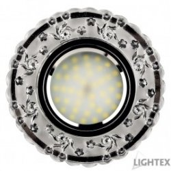 Декоративна луна стационарна MR16 ф100мм кръгла стъкло прозрачно с LED лента 3W 4000K  330Lm