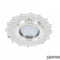 Декоративна луна стационарна MR16 ф100мм кръгла прозрачен акрил с LED лента 3W 4000K