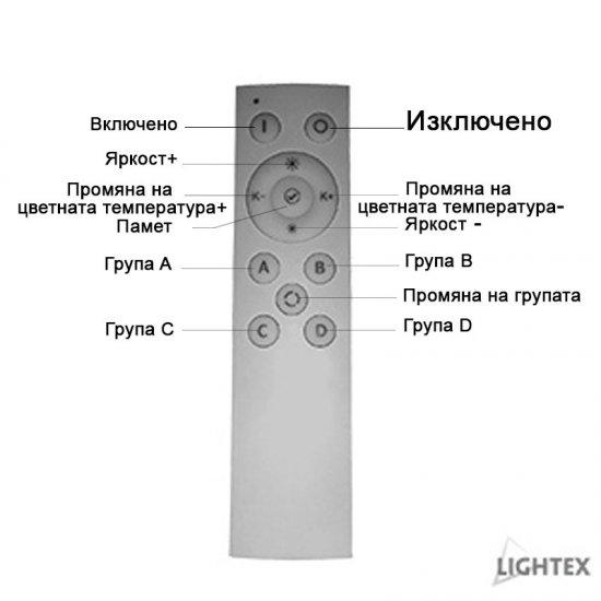 LED прожектор релсов PLUS 20W 3-white 2100Lm IP20 димируем черен