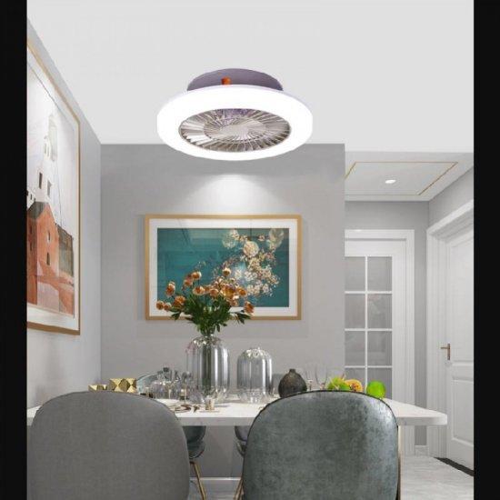 LED плафон вентилатор 36W  3-white 3240Lm ф60см IP20 димируем +  дистанционно управление