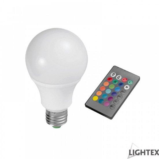 LED крушка E27 7W RGB 800Lm димируема с дистанционно управление