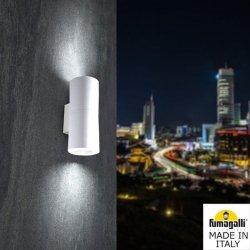Фасаден осветител FRANCA 90 2L 2xGU10 2x3.5W 4000K IP55 бял Fumagalli
