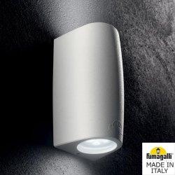Фасаден осветител MARTA 90 2L 2xGU10 2x3.5W 4000K IP55 бял Fumagalli