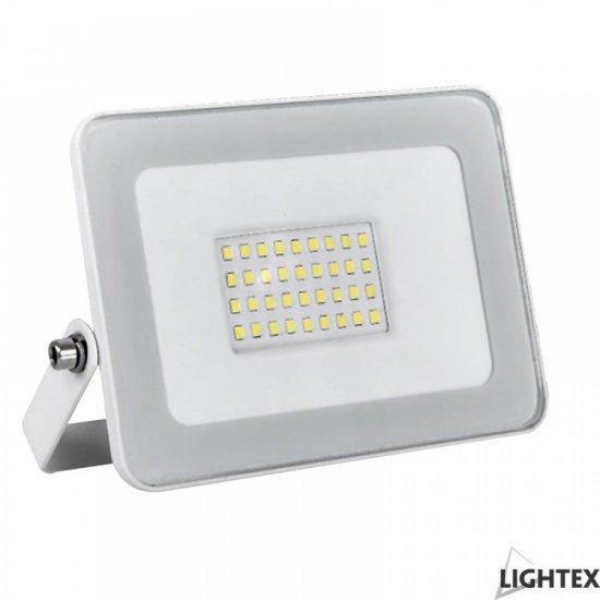 LED прожектор SLIM 50W RGB 3750Lm IP65 с дистанционно управление бял