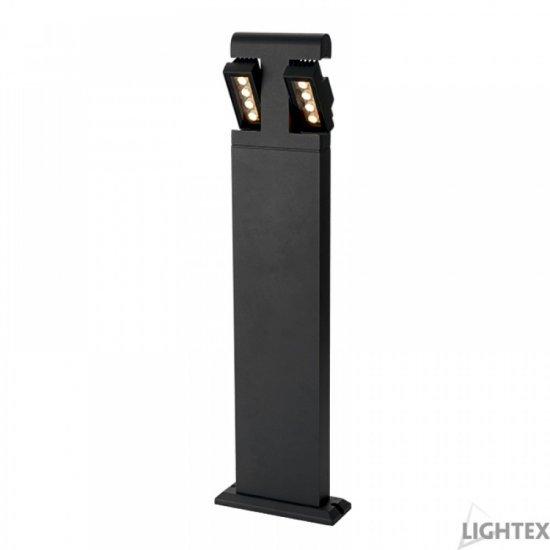 LED градински стълб BURGOS 9W 4000K 760Lm IP54 60см черен мат