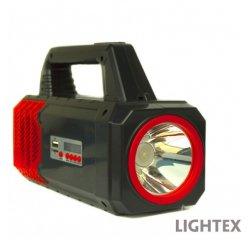 LED соларен фенер преносим с предно и странично светене, радио 2 лампи х 3W USB port SD карта и с изходи USB + 5V