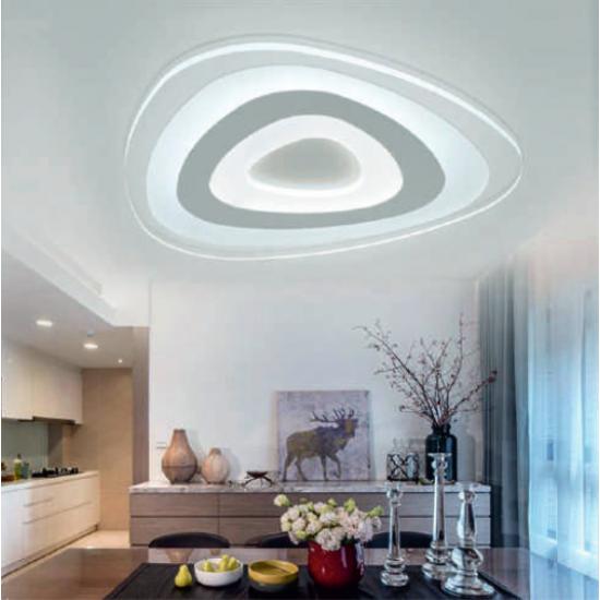 LED плафон TURN 85W 3000+4000К 6630Lm IP20 ф47см димируем + дистанционно управление
