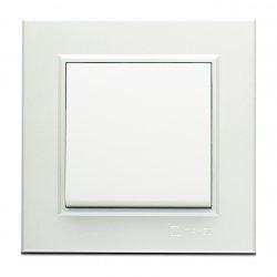 Ключ девиаторен схема 6 серия KAREA бял