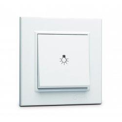 Ключ стълбищен (лихт бутон) серия KAREA бял