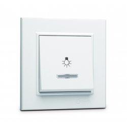 Ключ стълбищен (лихт бутон) със светлинен индикатор серия KAREA бял