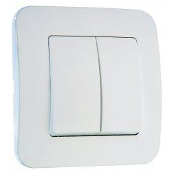 Ключ двоен схема 5 серия LILLIUM NATURAL бял