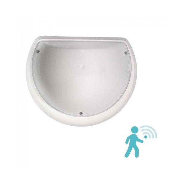 LED плафон влагозащитен с микровълнов сензор 360° Aqua Halfmoon 9W 3000K IP54 25см бял
