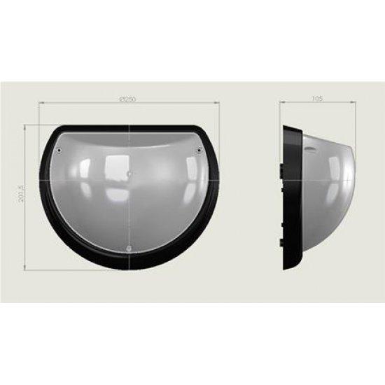 LED плафон влагозащитен Aqua Dolunay 9W 3000K IP54 25см бял