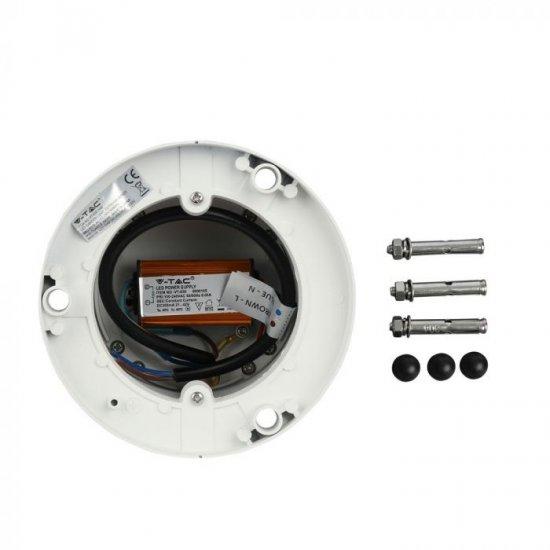 LED градинска лампа VT-830 10W 4000K 450Lm IP65 бяла
