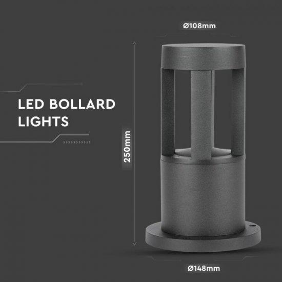 LED градинска лампа VT-830 10W 6400K 450Lm IP65 черна