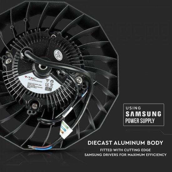 LED промишлен осветител тип камбана SAMSUNG CHIP VT-9-103 100W 6000K 12000Lm IP65 димируем 120Lm/W