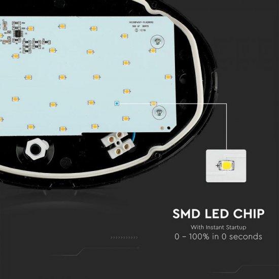 LED плафон VT-8010 12W 6400K 840Lm IP54 черен