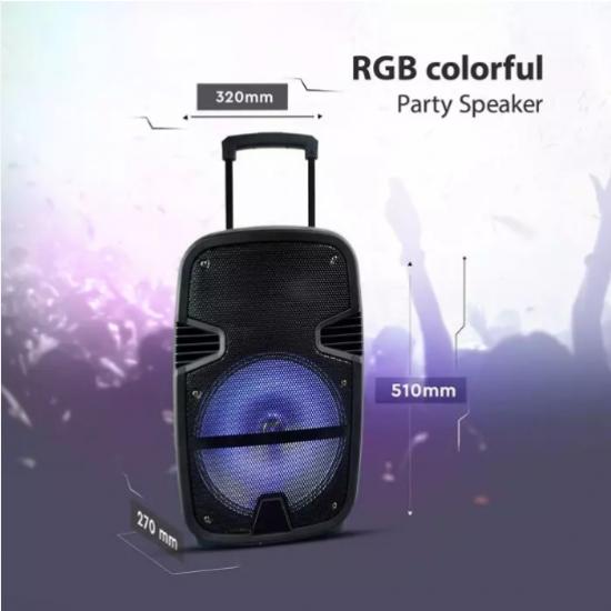 Мобилна Party колона + микрофон VT-6212 35W RGB IP20 + дистанционно управление