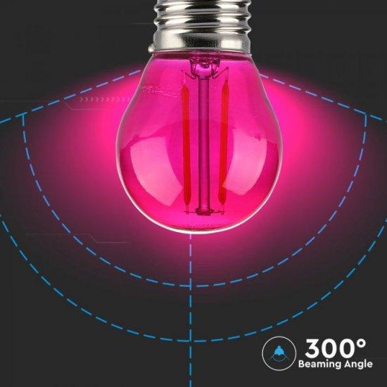 LED крушка Filament Е27 VT-2132 2W розова 60Lm