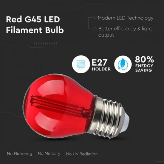 LED крушка Filament Е27 VT-2132 2W червен 60Lm