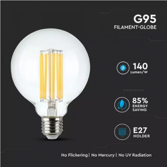LED крушка Filament Е27 VT-2338 18W 3000К 2520Lm