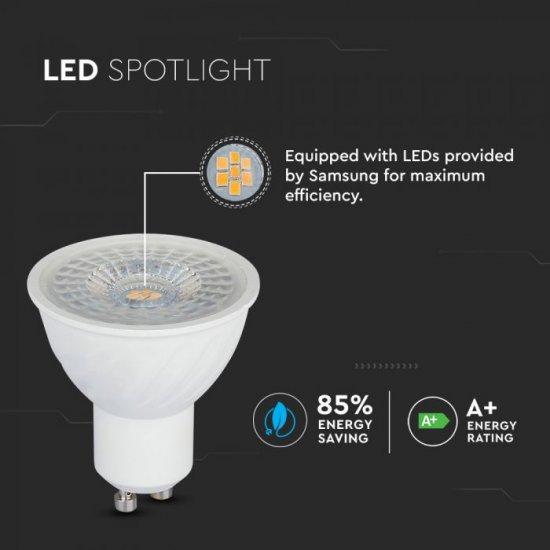 LED крушка GU10 VT-247D Samsung chip 6.5W 6400К 450Lm димируема