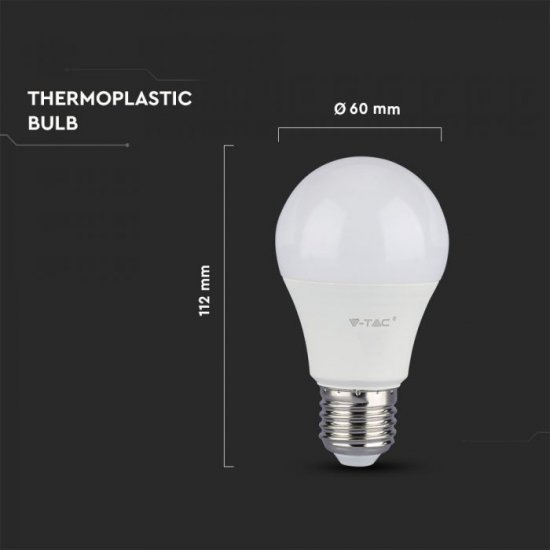 LED крушка E27 VT-285 Samsung chip 8.5W 3000К 1055Lm 120Lm/W