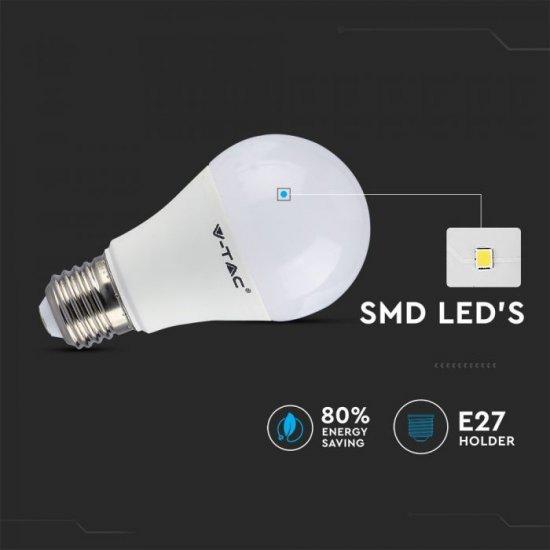 LED крушка E27 VT-2229 9W RGB+6400К 806Lm димируема чрез дистанционно управление