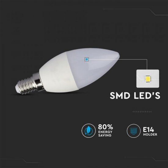 LED крушка E14 VT-2214 3.5W RGB+6400К 320Lm димируема чрез дистанционно управление